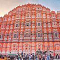 【印度 齋普爾】崔波萊市集 風之宮殿 像大型的粉紅色風琴 超美IG打卡點