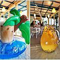 【屏東 旅遊】東港大鵬灣 風帆基地 網美最愛拍的玻璃屋  讓少女心噴發的哈蜜瓜鬆餅