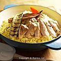 紋烤雞胸蔬菜燉飯