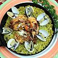 2009/11/27 西班牙番紅花海鮮燉飯 PAELLA & 茄汁海鮮三色貝殼麵 by Molly宋美英廚藝教室