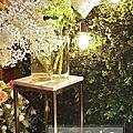 竹北晶宴-橘白色花藝設計