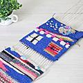 2014.01.09-10期簡易織布機 綴織作品