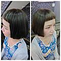 瀏海剪過頭短髮