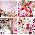 婚禮佈置‧2014.10.25台北徐州路2號‧桃粉心幸福婚禮窗