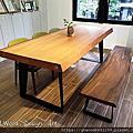 原木桌子作品