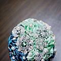 緞帶花珠寶捧花作品