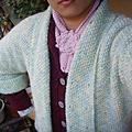 蓁巧編織交流會團織-短擺雙排釦外套
