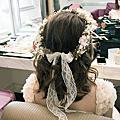 (bride)中長髮造型 花圈造型