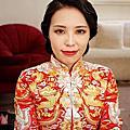 (bride)復古中式裙掛造型