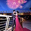 高雄自助婚紗夜景推薦景點:圖書總館.新光碼頭.愛河之心.彩虹水上教堂