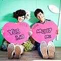 高雄創意婚紗攝影:快樂我們