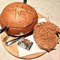 Svarta Kaffi soup in bread