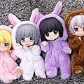黏土娃 布偶睡衣 兔兔/熊熊