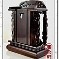 1尺-黑檀木-雙柱祖龕