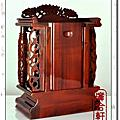 1尺-花梨木-本色雙柱祖龕