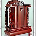 1尺-紅檀木-雙柱祖龕