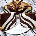 斑馬紋燙麵戚風蛋糕~