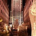 紐約洛克斐勒中心,聖派區克大教堂,夜晚的第五大道