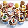 18【幸福黛比】【杯子蛋糕和糖霜餅乾】-生日、婚禮、彌月、節日