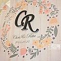 *~花居樂花坊~*1041025平鎮 茂園和漢美食館 Chris&Rita 鄉村風主題背板設計 婚禮佈置