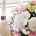 *~花居樂花坊~*1041101楊梅 揚昇高爾夫球場 James&Daisy典雅金背板設計 婚禮佈置
