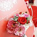 *~花居樂花坊~*1041101中壢 香江時尚美食館 忠俊&慧芬 典雅背板設計 婚禮佈置
