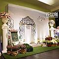 *~花居樂花坊~*1041114桃園 彭園會館 Eric&Angel花園風主題背板設計 婚禮佈置