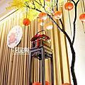 *~花居樂花坊~*1041122中壢 南方莊園 益頡&孟薇中國風主題背板設計 婚禮佈置