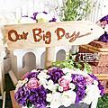 *~花居樂花坊~*1041122中壢 南方莊園 Patrick&Winnie鄉村風主題背板設計 婚禮佈置