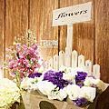 *~花居樂花坊~*1050103 桃園 瀚品飯店 Lance&Rina 鄉村風主題背板設計 婚禮佈置