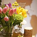 *~花居樂花坊~*1050123桃園 瀚品飯店 Peter&Gina 鄉村風主題背板設計 婚禮佈置
