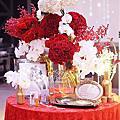 *~花居樂花坊~*1050124 南崁 川門子時尚美食館 立昇&夢雲 中國風主題設計 婚禮佈置