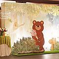 *~花居樂花坊~*1050313平鎮 茂園和漢美食館 朝暄&壎羽 童話風主題背板設計 婚禮佈置