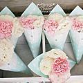 *~花居樂花坊~*1050320龍潭 儷宴餐廳 耀維&佳縈 鄉村風主題背板設計 婚禮佈置