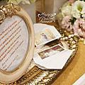 *~花居樂花坊~*1050430桃園 尊爵大飯店 冠輝&惠萱 白金色典雅主題背板設計 婚禮佈置