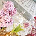 *~花居樂花坊~*1050702楊梅 揚昇高爾夫球場 Joe&Yating白金色典雅主題背板設計 婚禮佈置