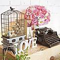 *~花居樂花坊~*1050702中壢 新陶芳庭園餐廳 Sheng&Yen 鄉村風主題背板設計 婚禮佈置