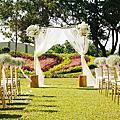 *~花居樂花坊~*1050722平鎮 晶麒莊園 家將&艾薇 鄉村風主題設計戶外婚禮佈置