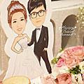 *~花居樂花坊~*1050903平鎮 晶麒莊園Shawn&Anita鄉村風主題背板設計 婚禮佈置
