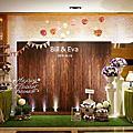 *~花居樂花坊~*1051029南崁 富城閣宴會莊園 Bill&Eva 鄉村風主題背板設計 婚禮佈置