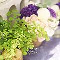 *~花居樂花坊~*1051225桃園 福容大飯店 Hugo&Kahe 鄉村風主題背板設計 婚禮佈置