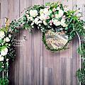 *~花居樂花坊~*1060507中壢 南方莊園 維宸&復瑩 里昂宴會廳 戶外証婚 鮮花拱門 婚禮佈置