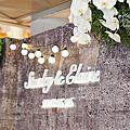*~花居樂花坊~*1070526 龍潭 悅華酒店 Stanley&Elaine 工業風主題背板設計 婚禮佈置