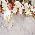 *~花居樂花坊~*1070922桃園 晶宴婚宴會館 振詮&玉珍 大理石主題背板設計 婚禮佈置