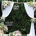 *~花居樂花坊~*1071007 桃園 青青風車莊園 戶外婚禮-花拱門婚禮佈置