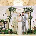 *~花居樂花坊~*1071028 楊梅 揚昇高爾夫球場 Eric&Chloe戶外婚禮-花拱門設計佈置