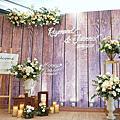 *~花居樂花坊~*1071201 龍潭 松葉園 Raymond&Joanna 美式鄉村風背板設計 婚禮佈置