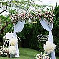 *~花居樂花坊~*1080602 桃園 青青風車莊園 戶外婚禮-花拱門婚禮佈置