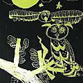 月夜的貓頭鷹