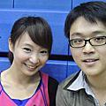 2013.09.11台北紅館新聞盃籃球賽見得可愛呂佳宜與卓君澤